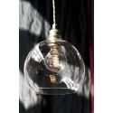Suspension Rowan transparent, diamètre 15,5 cm, Ebb & Flow, douille et câble argent