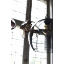 Suspension Rowan gris fumé, diamètre 15,5 cm, Ebb & Flow, douille et câble argent