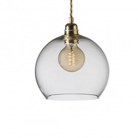 Suspension Rowan transparent, diamètre 22 cm, Ebb & Flow, douille et câble dorés