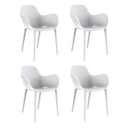 Set de 4 chaises Sabinas, Vondom blanc