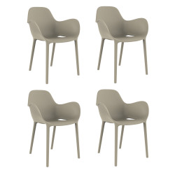 Set de 4 chaises Sabinas, Vondom écru