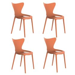 Lot de 4 Chaises Love, Vondom melon