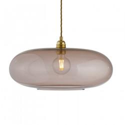 Luminaire verre soufflé Horizon Obisidienne, diamètre 45 cm, Ebb & Flow, douille et câble dorés