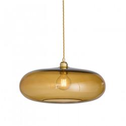 Luminaire verre soufflé Horizon Toast diamètre 45 cm, Ebb & Flow, douille et câble dorés