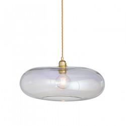 Luminaire verre soufflé Horizon Nacré Caméléon, diamètre 45 cm, Ebb & Flow, douille et câble dorés