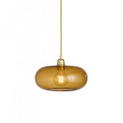 Suspension verre soufflé design Horizon Toast, diamètre 29 cm, Ebb & Flow, douille et câble dorés