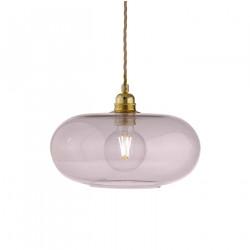 Suspension verre soufflé design Horizon Corail, diamètre 29 cm, Ebb & Flow, douille et câble dorés