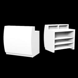 Bar Fiesta 120, module droit lumineux Leds blancs, avec plan de travail, Vondom, 120x80xH115 cm