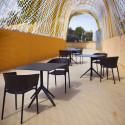 Set de 4 chaises Africa, Vondom noir
