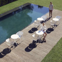 Set de 4 chaises Africa, Vondom, écru