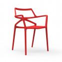 Lot de 4 chaises Delta, Vondom rouge