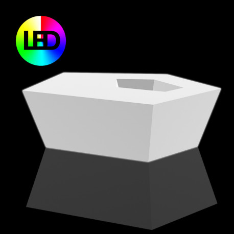 Table basse Faz Led RGB à batterie, Vondom, 110x70xH32 cm