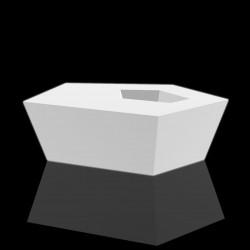 Table basse Faz lumineuse Leds blancs, Vondom, 110x70xH32 cm