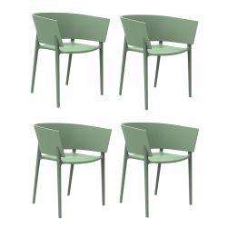 Set de 4 fauteuils Africa, Vondom vert cornichon