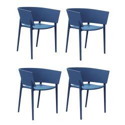 Set de 4 chaises Africa, Vondom Navy