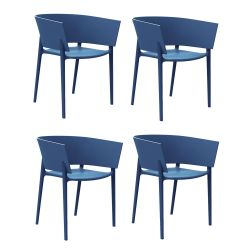 Set de 4 chaises Africa, Vondom Navy