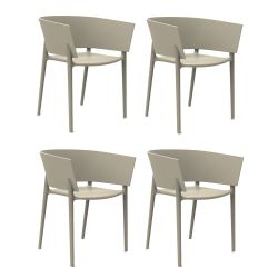 Set de 4 fauteuils Africa, Vondom écru