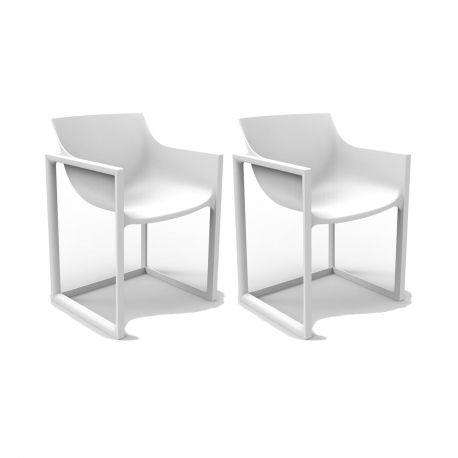 Lot de 2 chaises Wall Street, Vondom blanc