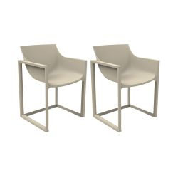 Lot de 2 chaises Wall Street, Vondom ecru