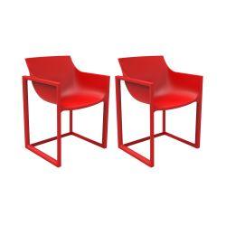Lot de 2 chaises Wall Street, Vondom rouge