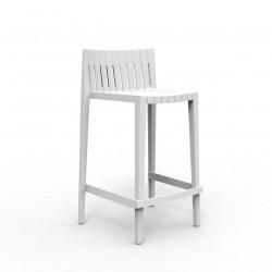 Tabouret haut Spritz, hauteur d\'assise 66cm, Vondom blanc