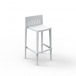 Tabouret haut Spritz, hauteur d\'assise 76cm, Vondom blanc
