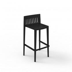 Tabouret haut Spritz, hauteur d\'assise 76cm, Vondom noir