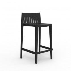 Tabouret haut Spritz, hauteur d\'assise 66cm, Vondom noir