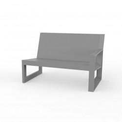 Module gauche pour salon de jardin design Frame, Vondom acier avec coussins en tissu Silvertex