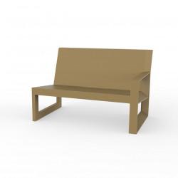 Module gauche pour salon de jardin design Frame, Vondom beige avec coussins en tissu Silvertex