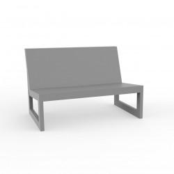 Module central pour salon de jardin design Frame, Vondom acier avec coussins en tissu Silvertex