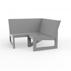 Module d'angle 90° pour canapé angle exterieur Frame, Vondom acier avec coussins en tissu Silvertex