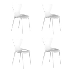 Lot de 4 chaises Love Kids, Vondom blanc
