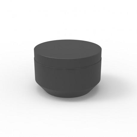 Pouf rond Vela Chill diamètre 60cm, Vondom anthracite