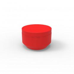 Pouf rond Vela Chill diamètre 60cm, Vondom rouge