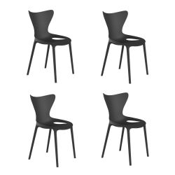 Lot de 4 chaises Love Kids, Vondom noir