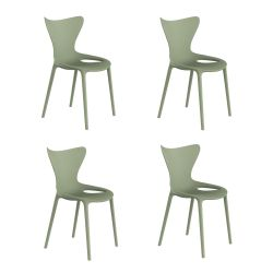 Lot de 4 chaises Love Kids, Vondom vert amande