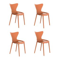 Lot de 4 chaises Love Kids, Vondom melon