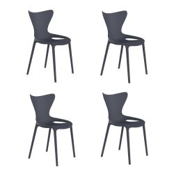 Lot de 4 chaises Love Kids, Vondom bleu marine