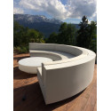 Table basse design ronde Vela, Vondom gris acier