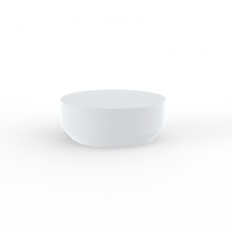 Table basse ronde Vela, Vondom blanc, diamètre 80xH30cm