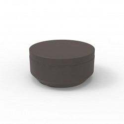 Pouf rond Vela Chill diamètre 80cm, Vondom bronze