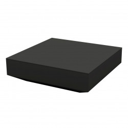 Table basse design carrée Vela, Vondom noir