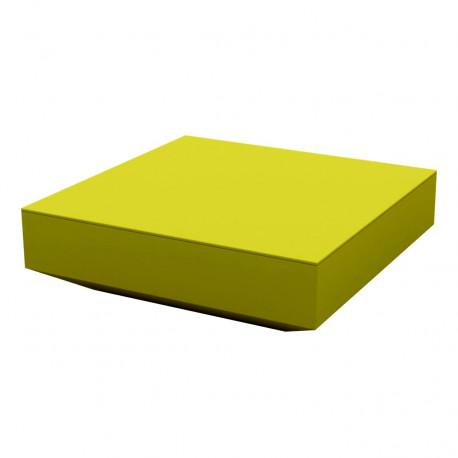Table basse design carrée Vela, Vondom pistache, 100x100xH30 cm