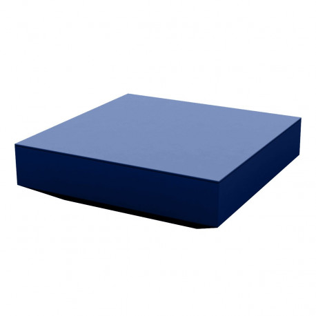 Table basse design carrée Vela, Vondom navy, 100x100xH30 cm
