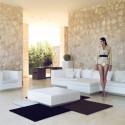 Table basse design carrée Vela, Vondom prune, 100x100xH30 cm