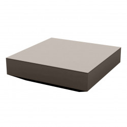 Table basse design carrée Vela, Vondom taupe