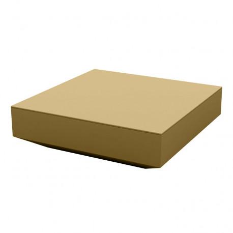Table basse design carrée Vela, Vondom beige, 100x100xH30 cm