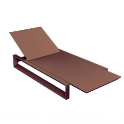 Chaise longue Frame bronze mat, avec coussin tissu Silvertex, Vondom