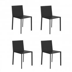 Lot de 4 chaises Quartz, Vondom noir